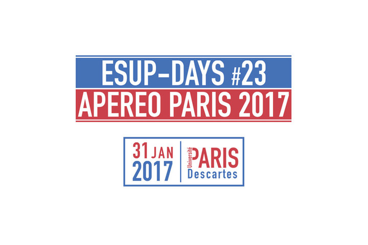 Journée ESUP-Days #23 et APEREO Paris 2017