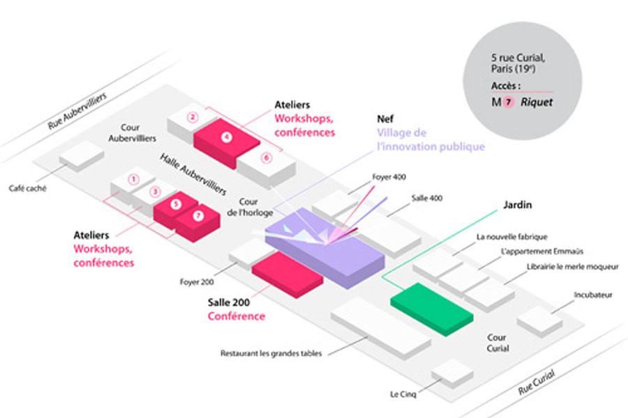 Plan de la Cité de l'innovation publique