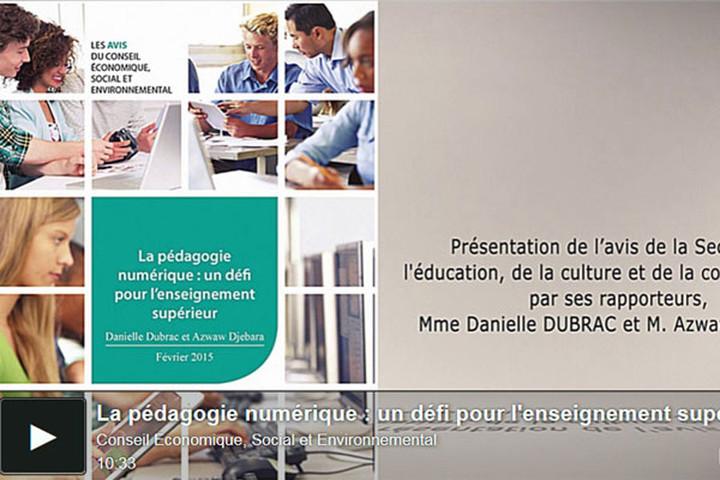 Préconisations sur la pédagogie numérique : le CESE a rendu son avis