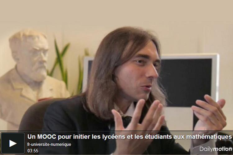 Cédric Villani présente un MOOC pour initier les lycéens et les étudiants aux mathématiques
