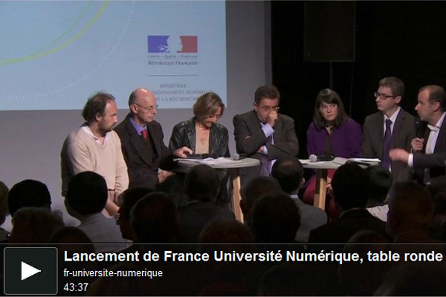 Lancement de France Université Numérique, table ronde