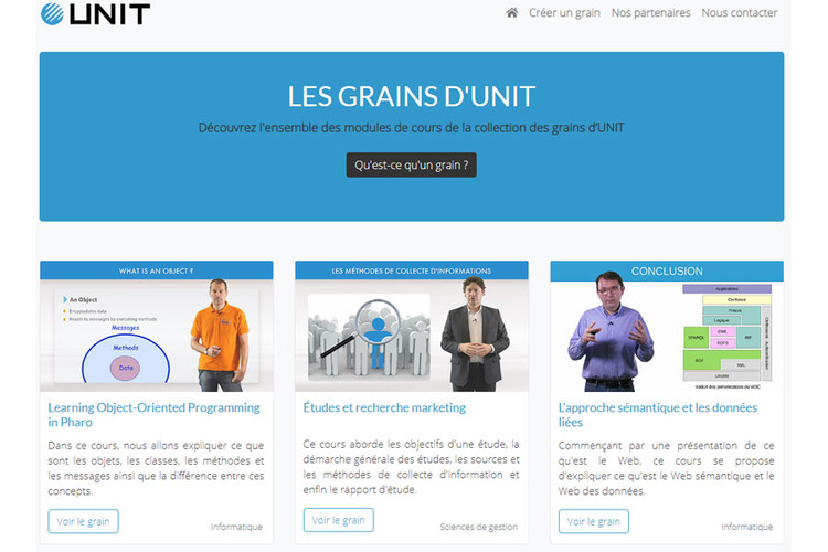 Collection Les grains d'UNIT