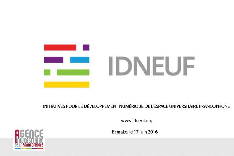 Initiative pour le développement numérique de l'espace universitaire francophone 2016