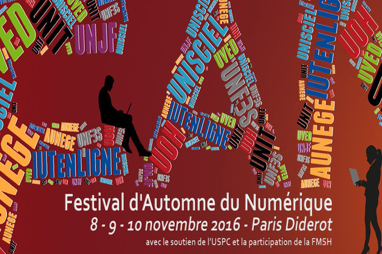 Le Festival d'Automne du Numérique du 8 au 10 novembre 2016 - Paris Diderot
