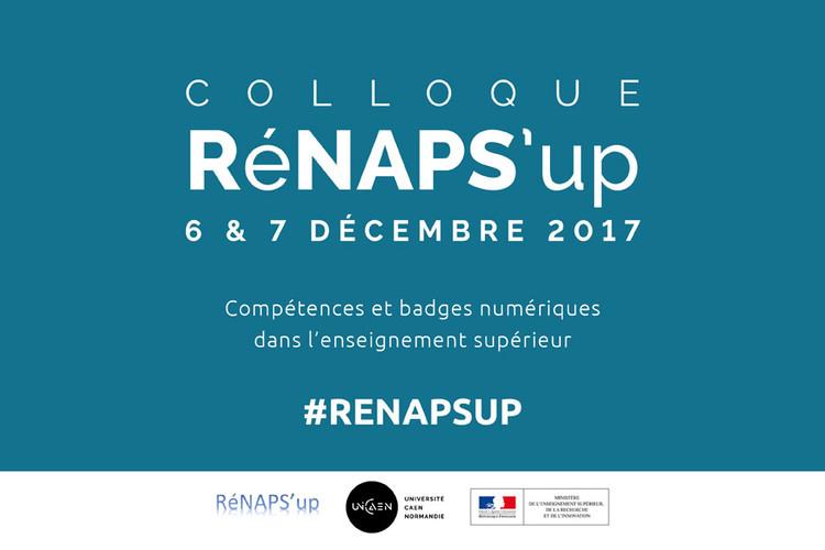"""Colloque RéNAPS'up """"Compétences et badges numériques dans l'enseignement supérieur"""