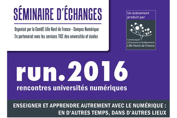 RUN.2016 : nouveaux espaces d'apprentissage, retours d'expériences