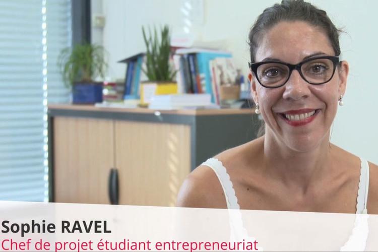 Sophie Ravel, chef de projet étudiant entrepreneuriat
