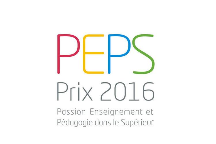 """Prix PEPS """"Passion Enseignement et Pédagogie dans le Supérieur"""" 2016"""