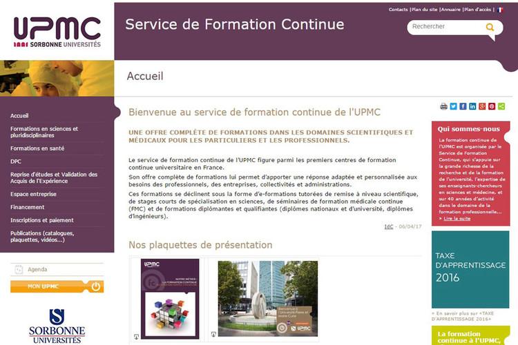 Service de formation continue à l'UPMC