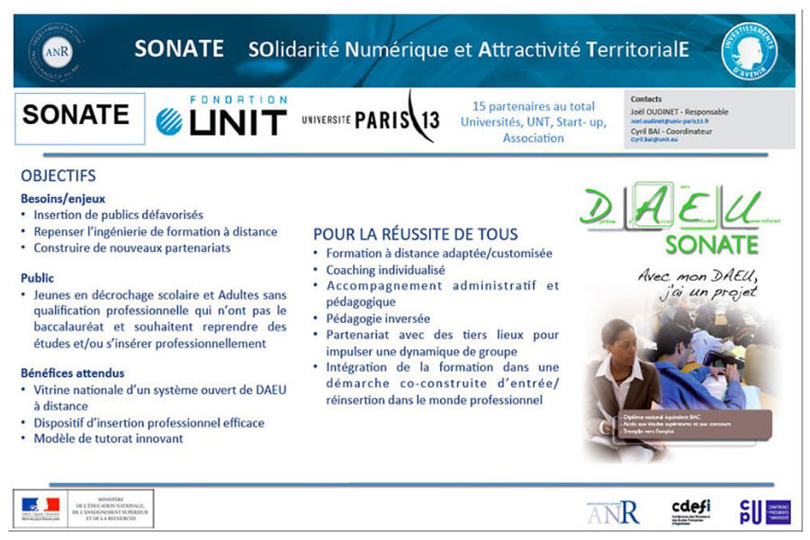 Le projet IDEFI-N Solidarité Numérique et Attractivité Territoriale (SONATE)