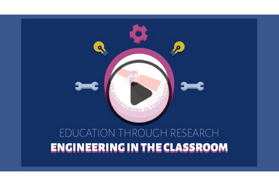 MOOC Education through research : engineering in the classroom