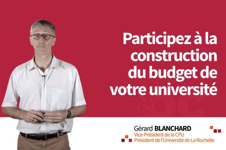 MOOC Participez à la construction du budget de votre université