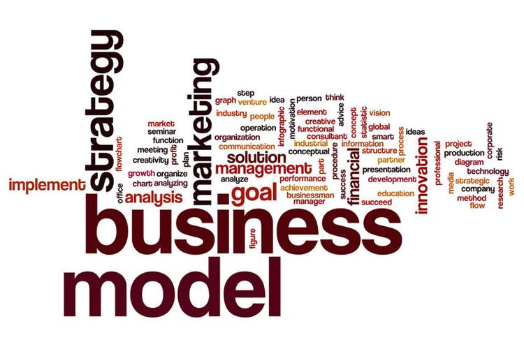 Nuage de mots axé sur business model