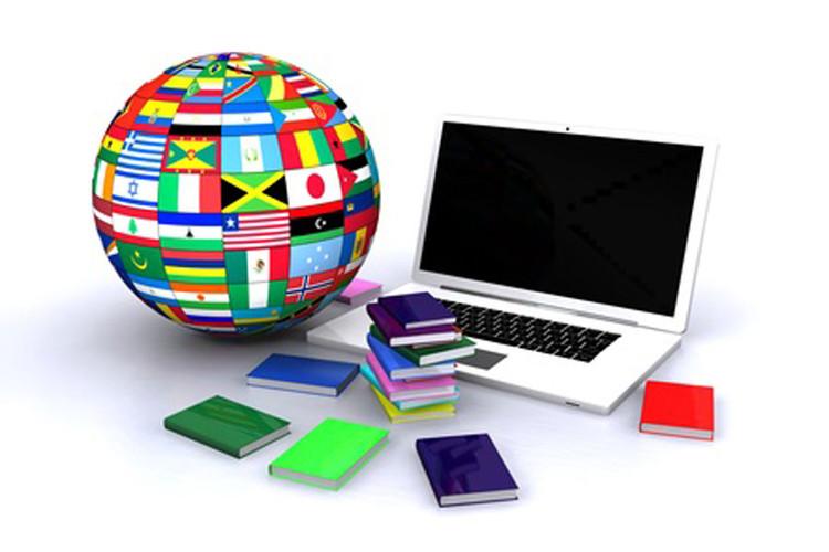 Mappemonde et ordinateur