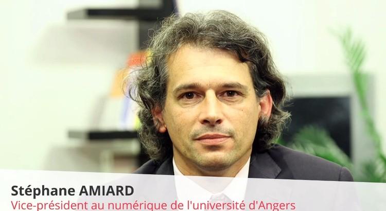 Stéphane Amiard, vice-président de l'université d'Angers, délégué au développement numérique