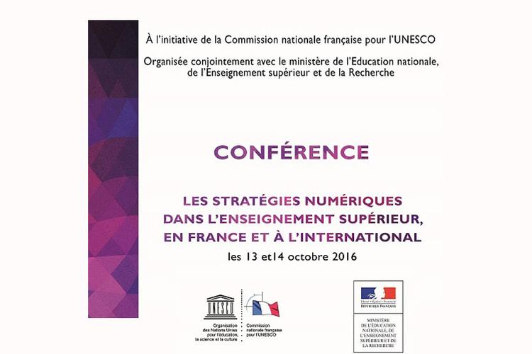 Conférence des 13 et 14 octobre 2016 : les stratégies du numérique dans l'enseignement supérieur, en France et à l'international